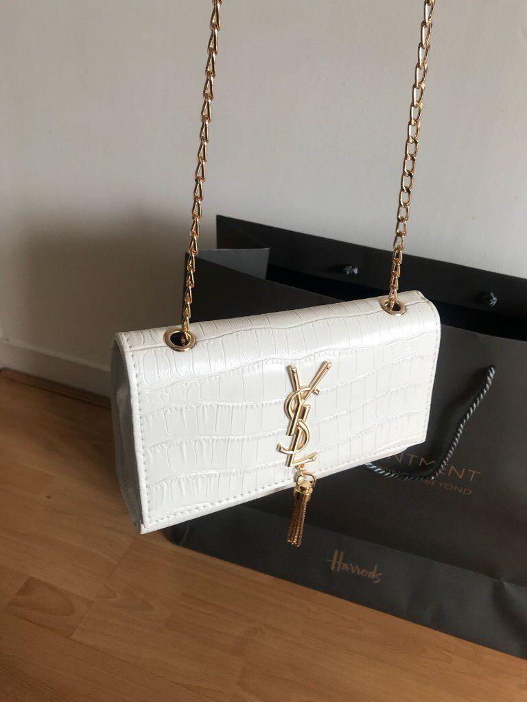 754a243eb8d4 YSL SAINT LAURENT Kate medium tassel croc-embossed leather shoulder bag