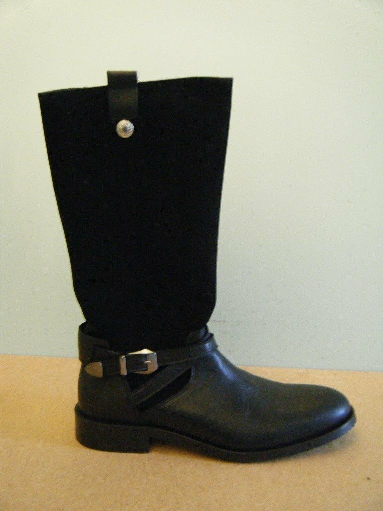 BNWT TEEN LEATHER/SUEDE BOOTS