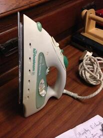 Morphy Richards Turbosteam electric green and white Iron