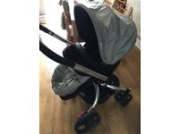 Spin pram pushchair ,baby car seat,Iso fix,Moses basket/stand and more