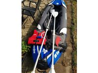 Colorado premium kayak 2 jackets 2 paddles pump and gauge and fin used only a few times
