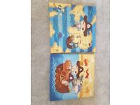 kids pirate 2x canvas