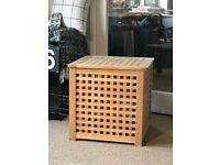 Lovely wooden storage box/ bedside table from IKEA