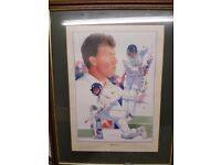 Limited Edition signed Michael Atherton watercolour