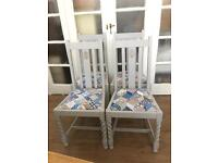 SET SHABBY CHIC CHAIRS FREE DELIVERY LDN🇬🇧no TABLE