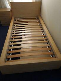 Ikea Malm single bed slatted frame