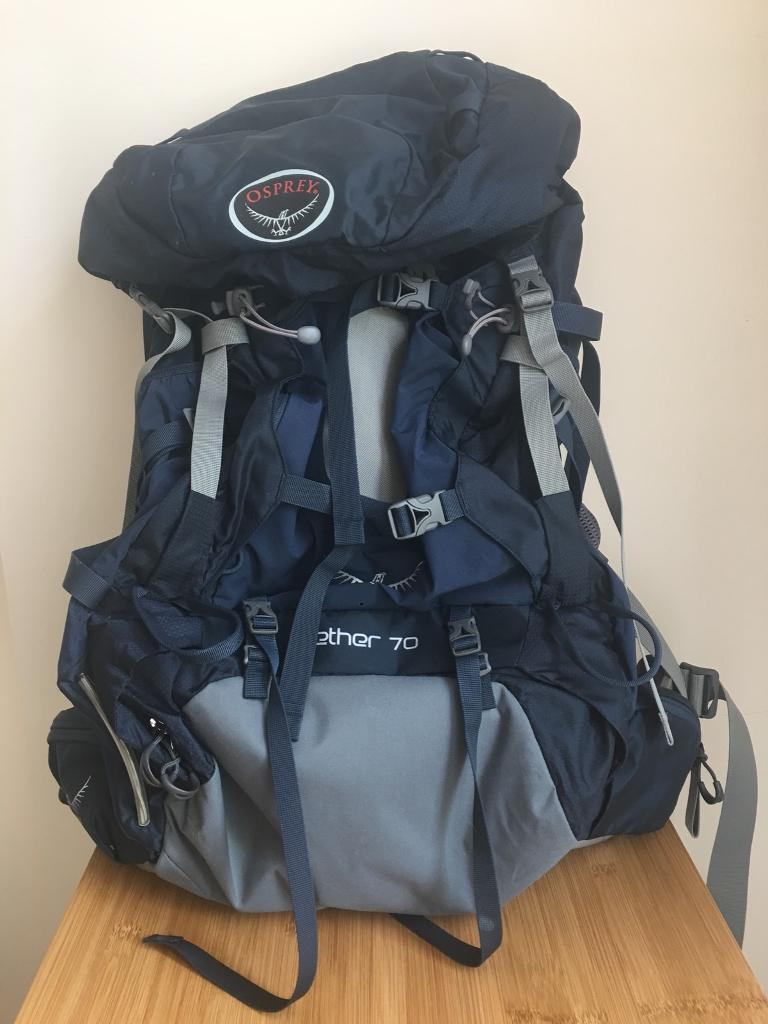 Osprey Aether 70 - Mens Hiking Backpack (Small)