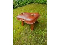 Moroccan Leather Camel Seat Stool