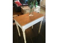 Antique Pine Kitchen Dining Console Desk Table Stripped Table Chalk Paint legs