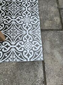 Patterned ceramic tiles - suitable for floor and wall