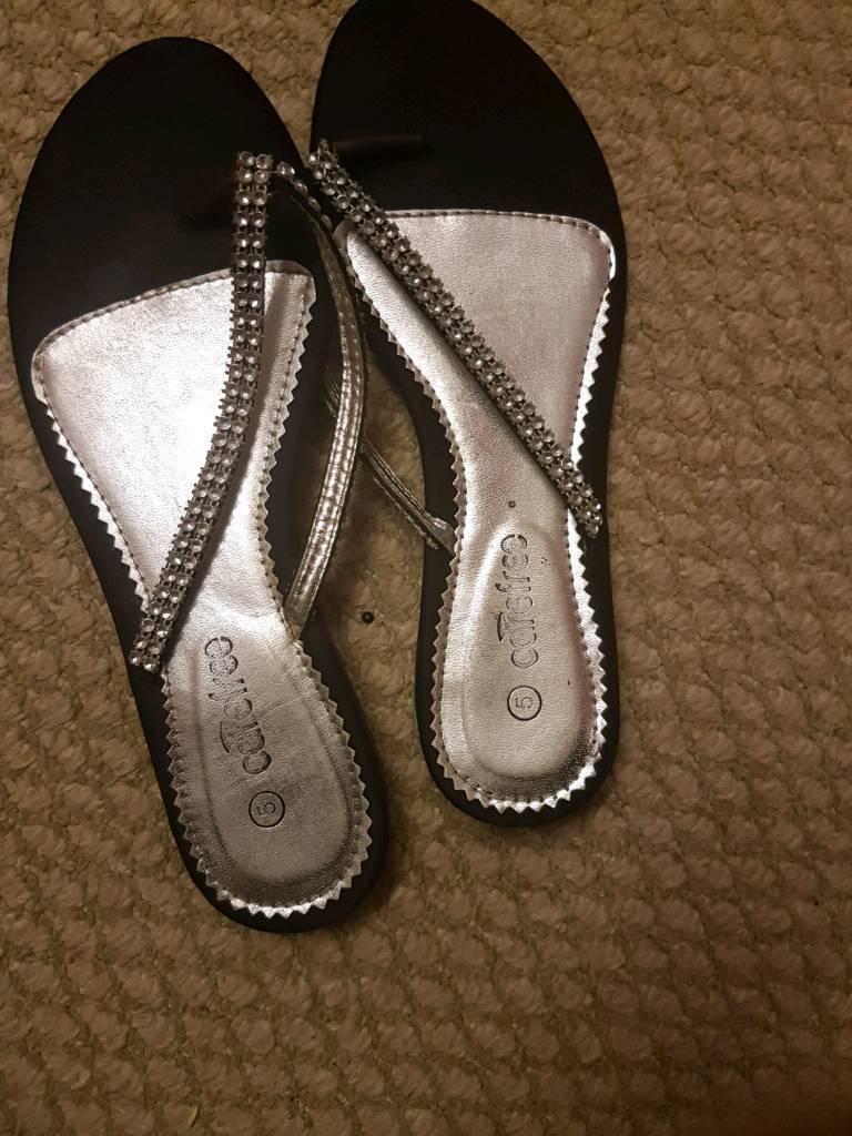 Black diamond slippers