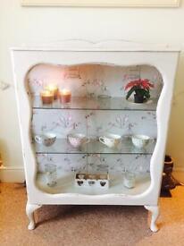 Antique glass cabinet - gorgeous