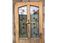 Solid hardwood front door 830mm x 1981mm - door furniture included
