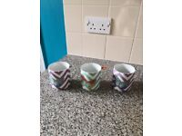 Set of 3 butterfly mugs by Oliver Bonas £2