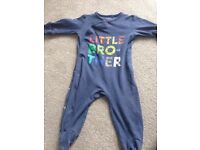 Next little brother sleepsuit 3-6 months