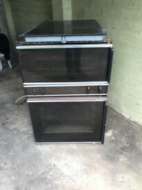 Original Gaggenau double oven with electric hob