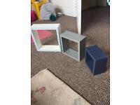 3 box shelves