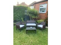 Dunelm brown rattan garden furniture