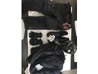 Unworn Full Clothing Kit for Motorbike - Arai helmet, RST Pro series jacket and trousers, etc
