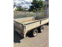 8 x5 drop side trailer double wheel