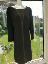 New Fenn Wright Manson ladies black office dress fully lined size 14