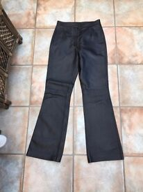 Leather trousers. Practically new, worn once. Size 10