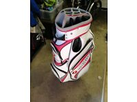 Motocaddy White and Red Golf Bag