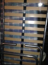 Very clean single metal framed bed with clean mattress can also deliver to your address