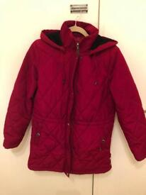 Liz Claiborne Quilted Coat in Red with detachable hood (MEdium)