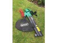 Qualcast leaf vacuum, collection bag and shoulder strap