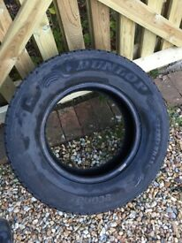 Used van tyre 225/70/R15 Dunlop econodrive with 7.2mm tread 225 70 15