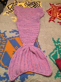 Crocheted mermaid tails