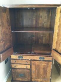 Laura Ashley Garrat chestnut pc cabinet / cupboard