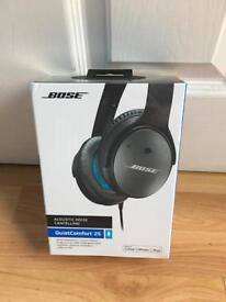 Bose QC 25 noise cancelling headphone Black *Brand New* Sealed Box