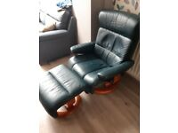 Arm chair with matching foot stool