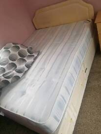 Double bed 1 draw with orthopaedic mattress good condition