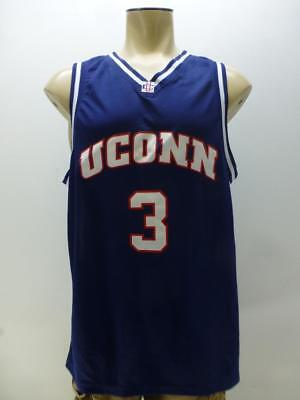 Foot Locker UC Uconn Connecticut Huskies blue #3 basketball jersey mens sz XL for sale  Lincoln