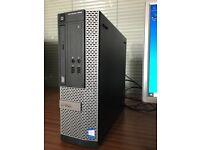 Computer PC Dell Optiplex 3020 4 core i5-4590, 500GB HD, 4GB RAM Win10 inc monitor mouse keyboard