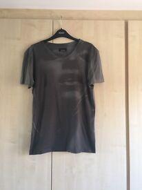 Zara Grey Print Design T Shirt - Small