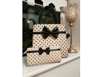 Banned apparel polka dot bag and purse set ted baker leather style