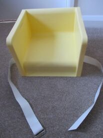 TODDLER/CHILD TWO HEIGHT BOOSTER SEAT FOR CHAIR AT TABLE YELLOW MOTHERCARE GOOD USED COLLECT BENFLEE
