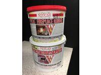 Vitcas fire resistant plaster/ render 2 pots each