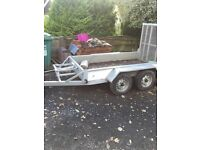 Indespension mini digger plant trailer ad2000 with led lighting