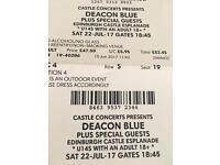 Deacon Blue Edin Castle Concert Tickets now sold