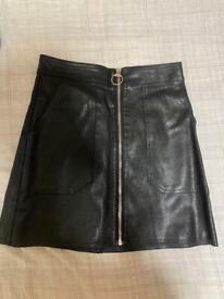 PU Zip Skirt