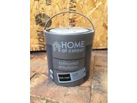 Homebase Matt black emulsion paint 2.5l