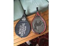 2x Tennis Rackets with cases
