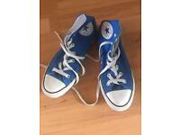 Converse 6 blue trainers boots shoes