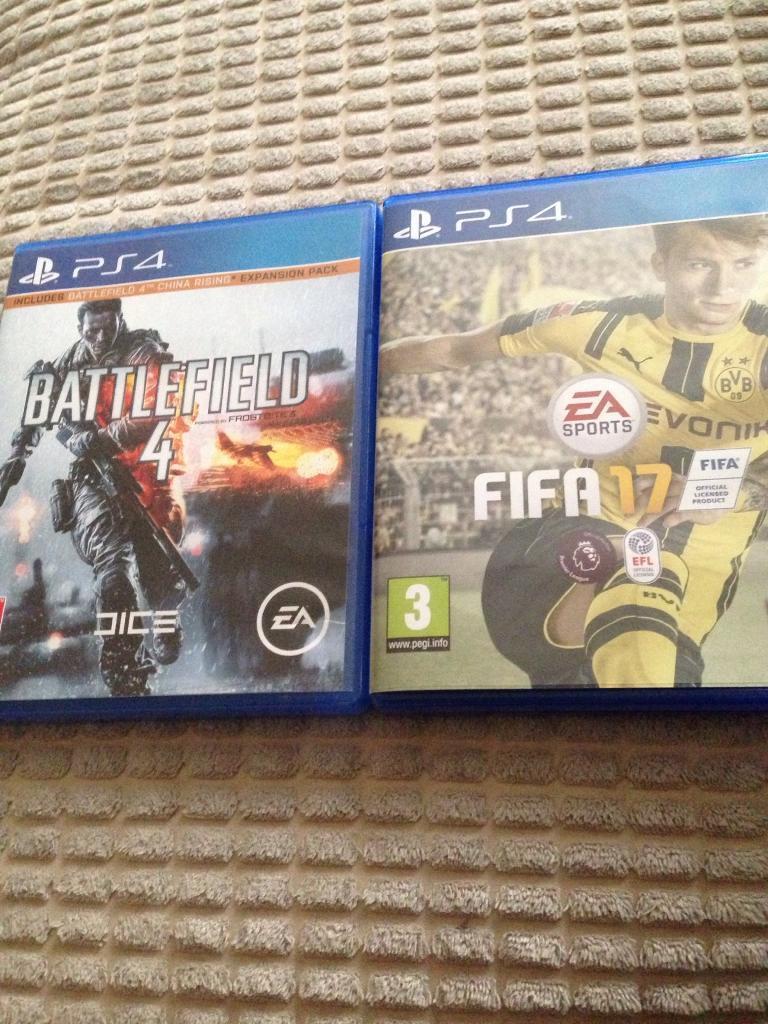 Fifa 17. Battlefield 4 ps4