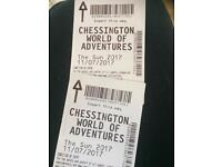 Chessington world of adventures x2